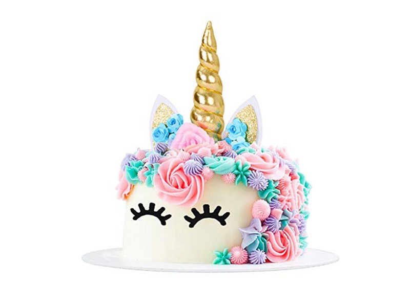 Enjoyable 3D Unicorn Cake Topper With Eyelashes 5 Colours Trade Me Funny Birthday Cards Online Alyptdamsfinfo