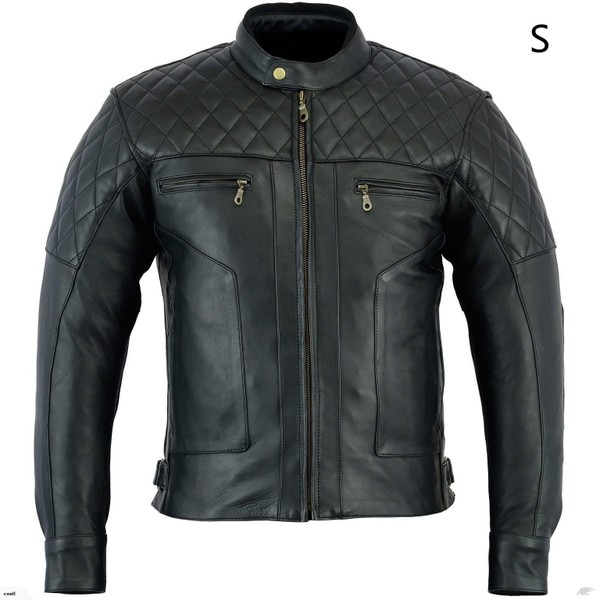 a9d56d3ed3f Mens Leather Motorcycle Jacket with CE Approved Armour Size Large ...