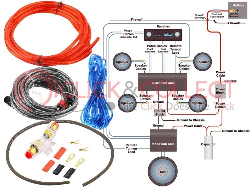 Swell 1500W Car Audio Subwoofer Amplifier Wiring Kit Trade Me Wiring Cloud Hisonuggs Outletorg