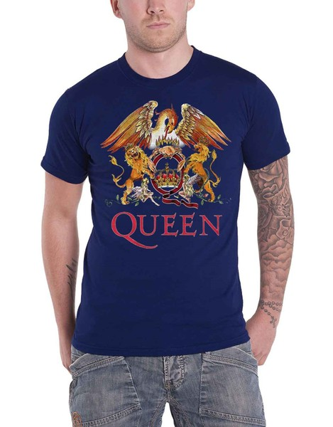 ce6006878d Queen T Shirt Classic Crest Band Logo Freddie Mercury Official Mens New |  Trade Me