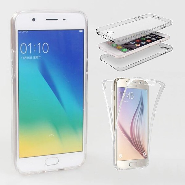 best service f2ae2 d14e4 Oppo A39 case 2 piece transparent full body protector case