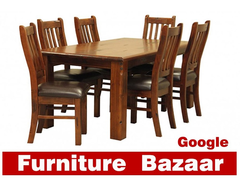 American Rustic Solid Pine Dining Table 2 1m