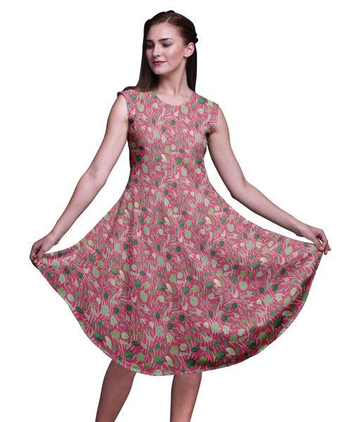 fc14330056a Bimba Rayon Women Knee Length Sleeveless Casual Summer Sun Tank Dress