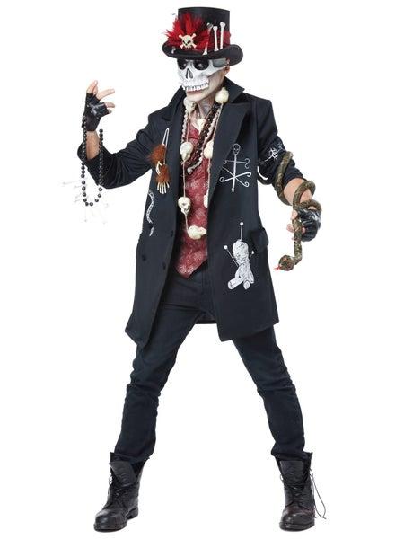 Voodoo Dude Witch Doctor Day Of The Dead Skeleton Skulls Mens Costume