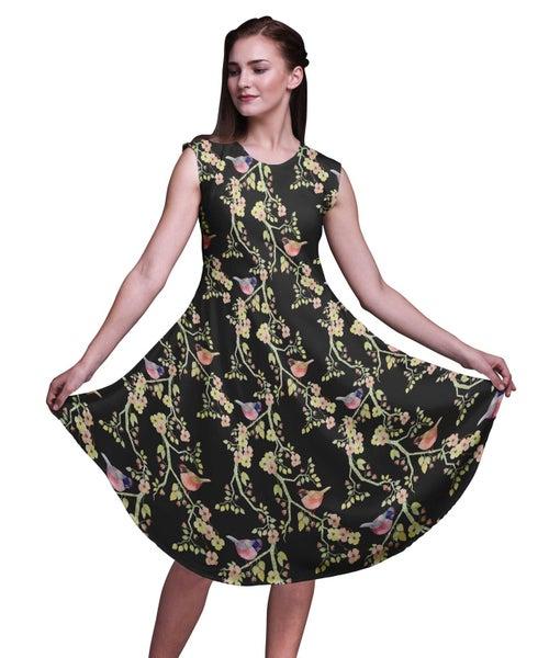 Bimba Rayon Printed Knee Length Ladies Sleeveless Holiday Wear Tank