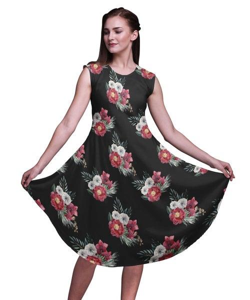 a06ad6bce78 Bimba Rayon Women Printed Knee Length Sleeveless Shift Summer Dress ...