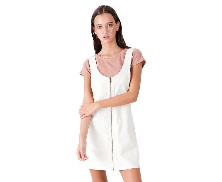 12b3bcf3 Afends Women's Almond Cord Pinafore Dress Cream Casual Dress   Trade Me