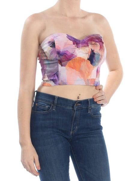 0516af806434 GUESS Womens Purple Ikat Crop Top Top | Trade Me