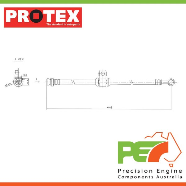 new *protex* hydraulic hose - front for honda city aa 2d h/b fwd  | trade me