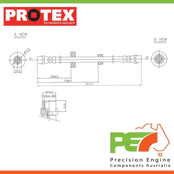 2x new *protex* hydraulic hose - front for volvo s40   4d sdn fwd  | trade  me