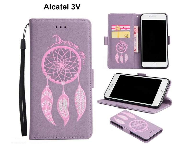 Alcatel 3V case luxury glitter leather 3D dreamcatcher magnet ppl