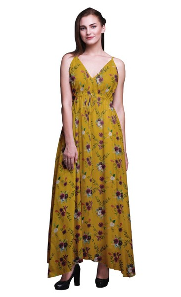 9634db3250b Bimba Cotton Women Printed Sleeveless Long Maxi Strappy Bohemian Beach Dress