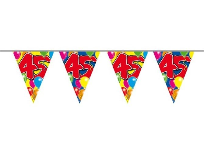 Bunting Balloons 45 Years 10 S