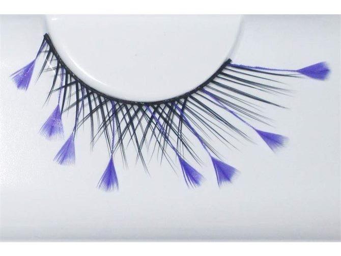 e913d48aa68 Eye Lash Set Feather Purple With Black - Fake False Eyelashes   Trade Me