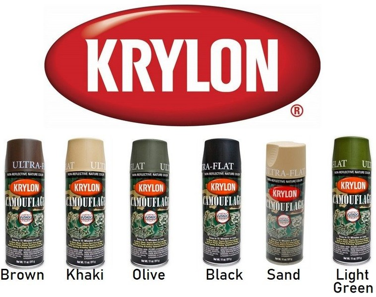 Camo Spray Paint 4 Pack Of Mixed Colours Krylon