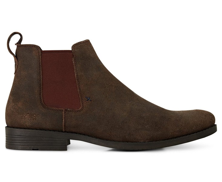 792a3aa073293 Windsor Smith Men's Palmer Leather Boot Brown Oil Side Dress Shoes ...