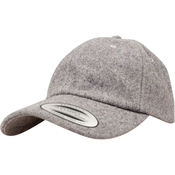 07c9f6a4a92fc Flexfit LOW PROFILE Melton Wool Strapback DAD Cap