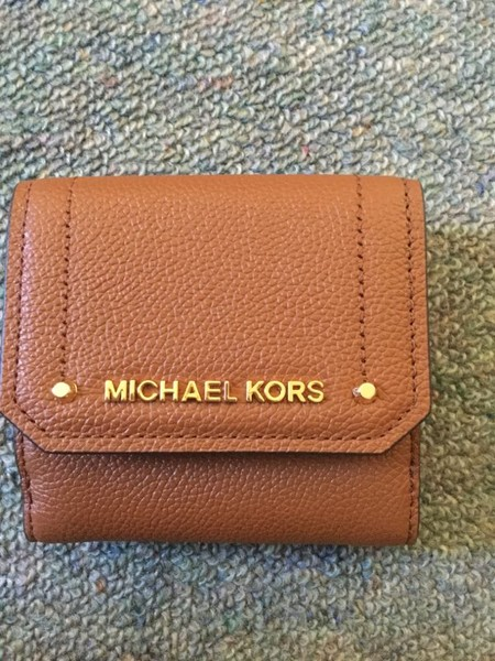 30eddf513da3 Brand New Authentic Michael Kors MD Compact Trifold Leather Wallet (Brown)  | Trade Me