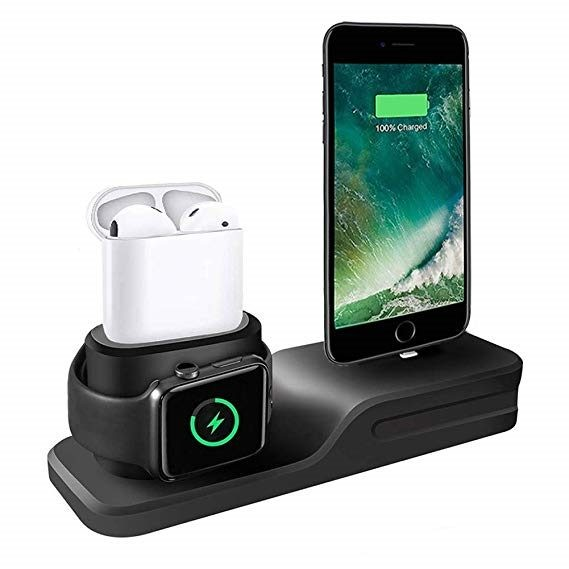 754ee77e735 3in1 Charging Dock For Iphone X 8 7 6 Silicone charging stand Dock Station  Apple | Trade Me
