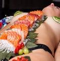 'Nyotaimori' Eat Sushi off Naked Model