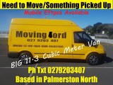 Moving/1Off PickUps/Van Hire with Driver From $40