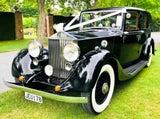 Classic wedding bridal car limo RollsRoyce Jaguar