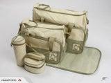 New Nappy/Diaper Bag Set 5 Pieces Green