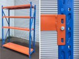 500KG Black Garage Shelving Storage Shelving 2mL x1.5mW x0.5mD