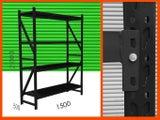 Matt Black Garage Shelving 2mx1.5mx0.5m