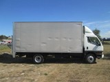 Mitsubishi Canter BOX BODY WITH TAIL LIFT 1995