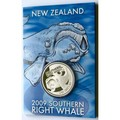 NZ 2009 WHALE 1 OZ SILVER BULLION !!! RARE