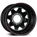 Offroader 15x8 6x139.7 Black Steelie