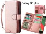 Galaxy S8 plus case Double Wallet leather case 9 Card Slots