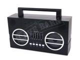 Retro Ghetto Blaster Bluetooth Speaker Aux/USB Input
