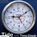 NZ Retailer - Time and TIDE clock 205mm *Stainless Steel *FREE battery *Boxed
