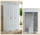 Clearance Sale! Good Quality French style Wardrobe white Brand New