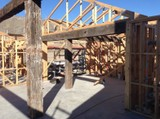 Hardwood bridge beams, sleepers, milled timber