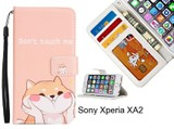 Sony Xperia XA2 case 3 card leather wallet case printed ID