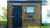 Solid Wooden Garden Sheds Complete with floor