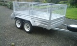 8x5 tandem axle trailer, cage and FREE road cover