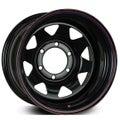"""15x8"""" Wildland Offroader Steel Wheels - Gloss Black - 6/139.7 -19"""