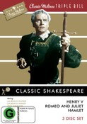 CLASSIC SHAKESPEARE - HENRY V / ROMEO & JULIET / HAMLET (3DVD)