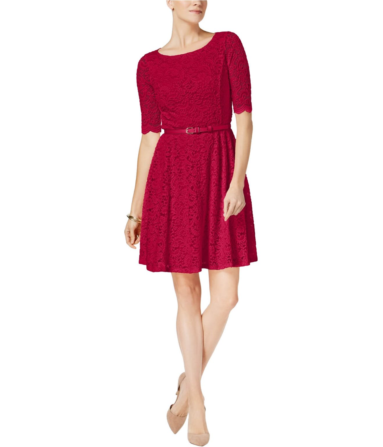 5b769460958e7 Charter Club Womens Lace A-line Fit & Flare Dress | Trade Me