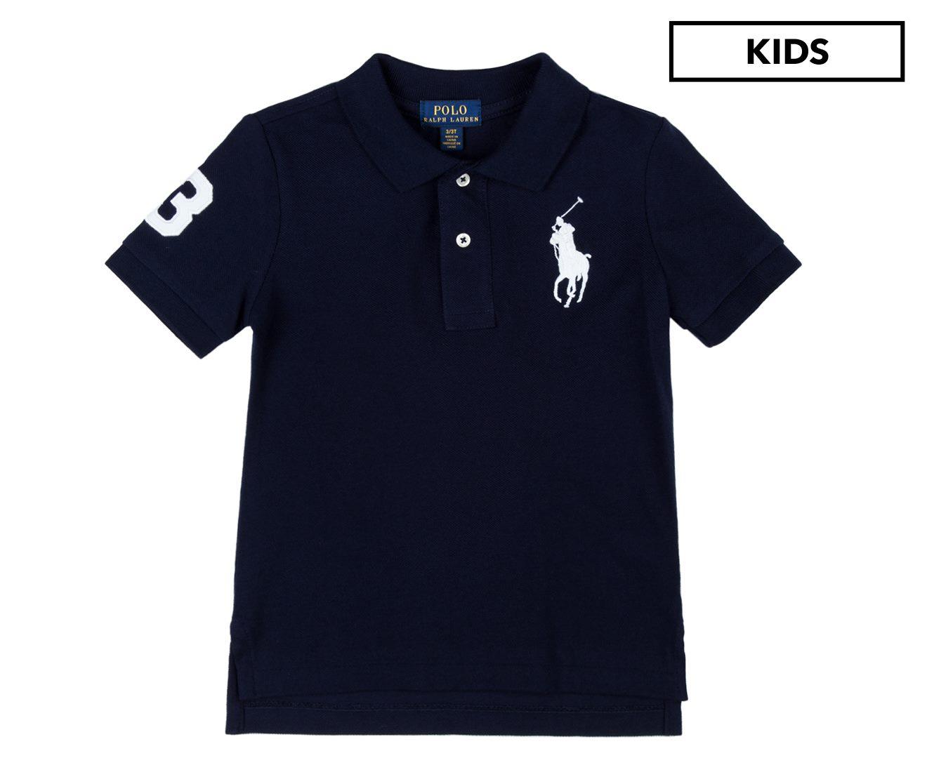 0047fbc1857 Polo Ralph Lauren Kids  Big Pony Mesh Polo French Navy Polo Shirt ...