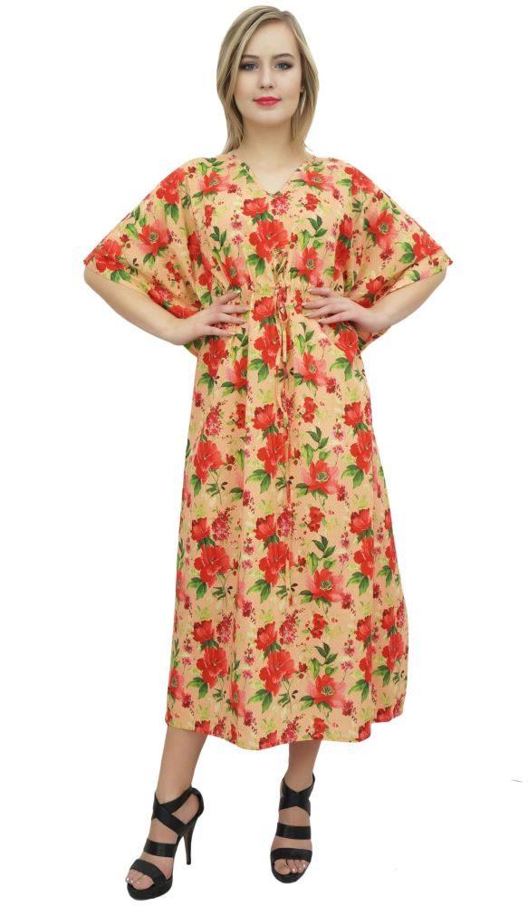 9bdccb9af13 Bimba Women s Floral Maxi Long Kaftan Cotton Coverup Bridesmaid Caftan Dress-26