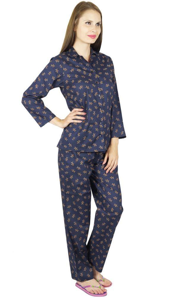 7b5af1a5f4 Bimba Cotton Night Wear Pajama Set Long Sleeve Shirt   Pyjamas- Gingerbread  Man
