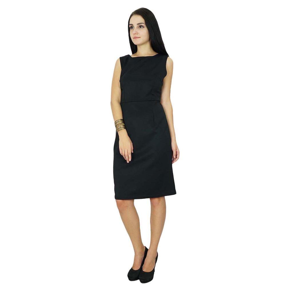 7d73d06795be Bimba Women''s Classic Slim Fit Sleeveless Black Midi Dress | Trade Me