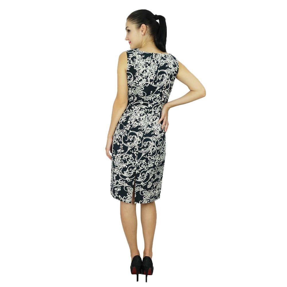 4ec2614c6e46 Bimba Womens Classic Slim Fit Sleeveless Black Rayon Casual Midi Dress |  Trade Me