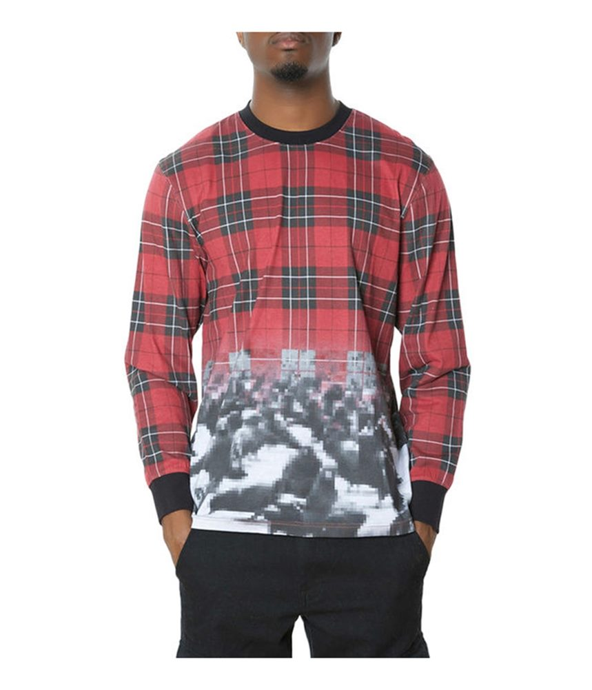 Staple Mens The Marlow Printed Ls Graphic T Shirt Trade Me