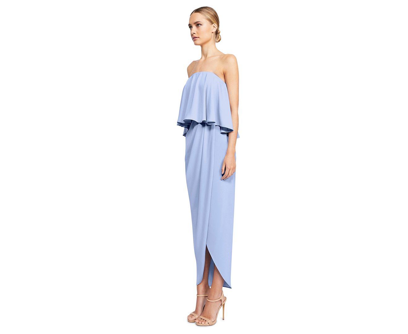d0564bfbc135 Shona Joy Women's Core Strapless Frill Dress Cornflower Cocktail Party Dress  | Trade Me